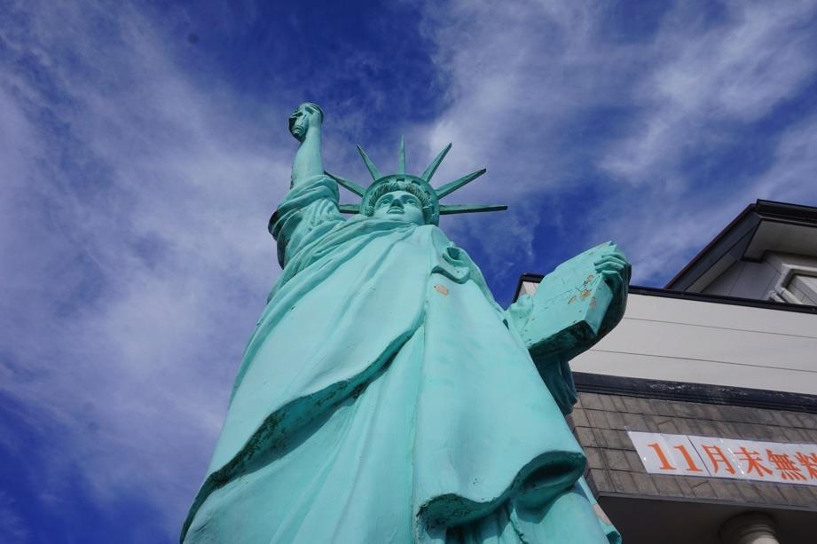 南守谷駅近くにある自由の女神像知ってる?