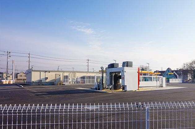 洗車機もあります。ローソン野々井店は2017年1月オープン