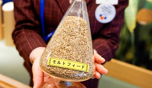 麦汁ろ過槽で取り除かれた麦の殻モルトフィード
