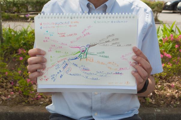 実際のマインドマップを見せてくれる金子正晃さん